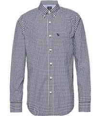 gingham poplin skjorta casual blå abercrombie & fitch
