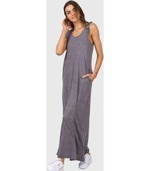 vestido gris chelsea market cami largo