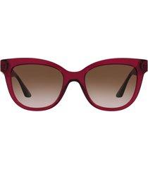 versace versace ve4394 bordeaux transparent sunglasses