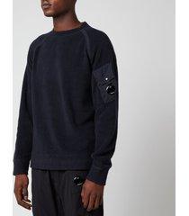 c.p. company men's crewneck sweatshirt - total eclipse - s