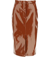 sportmax patent pencil skirt