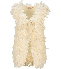 marni front-tie knitted vest