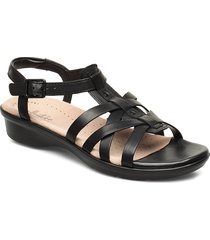 loomis katey shoes summer shoes flat sandals svart clarks