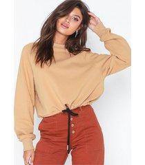 nly trend drawstring waist sweat sweatshirts