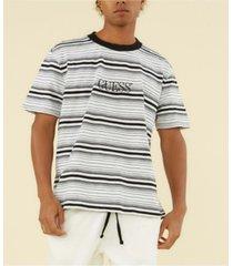guess men's originals cascade striped tee