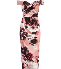 plus size women's city chic in love floral dress, size large - pink