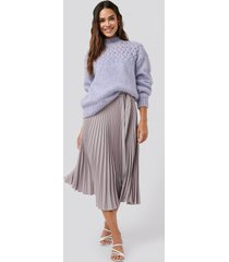 na-kd trend belted pleated skirt - purple