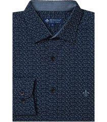 camisa dudlaina manga longa tricoline estampado floral masculina (estampado, 6)