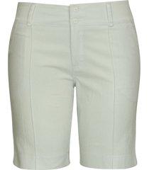 shorts pau a pique básico de sarja branco