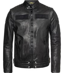 branded leather jacket