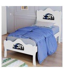 cama solteiro mustang lisa branco casah