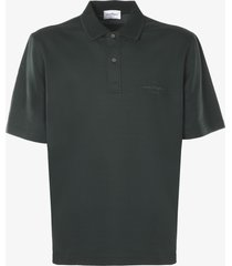 salvatore ferragamo cotton polo shirt with logo signature