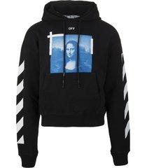 off-white man black monalisa hoodie