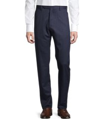 zanella men's noah classic stretch wool pants - navy - size 42