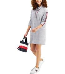 tommy hilfiger funnel-neck sweatshirt dress