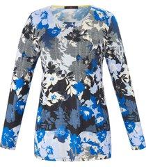 shirt met lange mouwen en bloemenprint van emilia lay multicolour