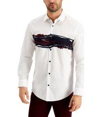alfani men's hazy wave shirt, created for macy's
