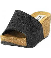 sandalia glitter negro nara