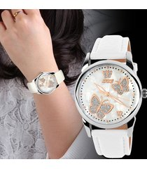 reloj de moda dama cuarzo skmei mujer mariposa análogo