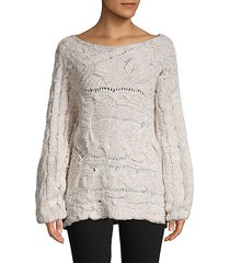 against the tide cotton-blend sweater