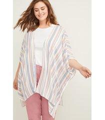 lane bryant women's textured stripe kimono onesz sea point stripe