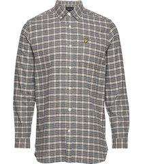 check flannel shirt skjorta casual grå lyle & scott