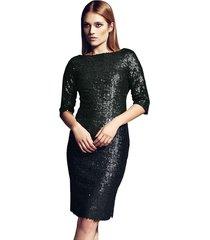 sukienka leona cekiny czarna