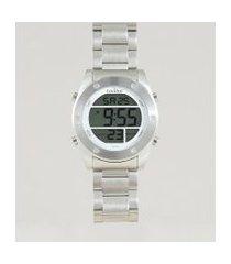 relógio digital condor masculino - cobj3463ad3k prateado
