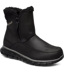 womens synergy - waterproof shoes boots ankle boots ankle boot - flat svart skechers