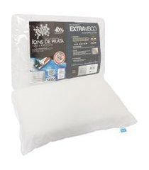 travesseiro fibrasca extravisco íons de prata branco