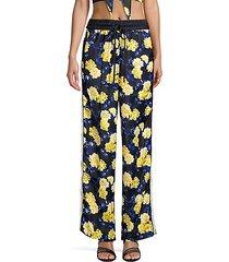 floral drawstring pants