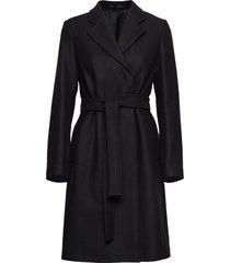 eden coat wollen jas lange jas zwart filippa k