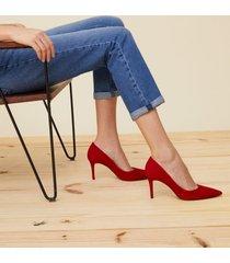 amaro feminino scarpin básico salto fino, vermelho