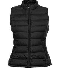 viminsk short quilted waistcoat/pb vests padded vests svart vila