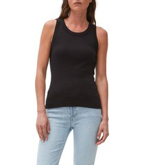 michael stars paloma cotton tank top in black at nordstrom