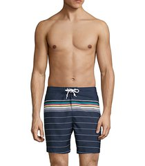 drawstring striped board shorts