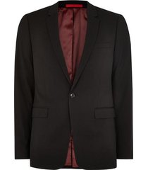 mens black super skinny fit single breasted blazer with notch lapels