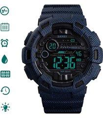 skmei reloj hombre digital militar deportivo azul vaquero