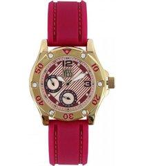 reloj   para dama marca yess ref 2529-02 color fucsia