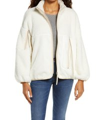 women's ugg marlene faux fur jacket, size medium - ivory