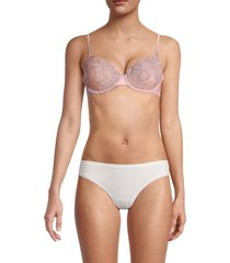 la perla women's lace underwire bra - pink - size 32 d