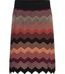 musa knit short skirt kort kjol multi/mönstrad second female