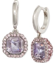kate spade new york pave & square crystal drop earrings