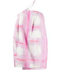 jacquemus la robe soleil single suspender mini dress - pink