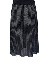 balmain plisse metallic skirt