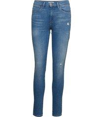 high rise skinny skinny jeans blå wrangler