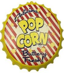 enfeite decorativo tampa popcorn plã¡stico cor amarelo 40x40 - marrom - dafiti