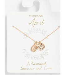 maurices womens dainty april birthstone necklace