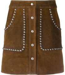 golden goose artemide studded a-line skirt - brown