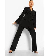 geplooide strakke broek, black